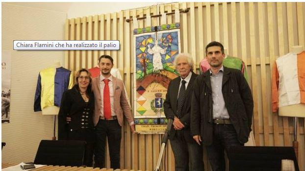 Monticiano, Gran Premio dei Rioni:  Chiara Flamini svela la suaopera