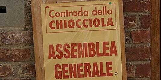 Siena, Contrada della Chiocciola: 28/01 AssembleaGenerale