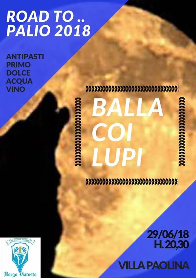 """Palio di Asti, Borgo Viatosto: 29/06 """"Balla coi Lupi"""". Mappa per raggiungere VillaPaolina"""