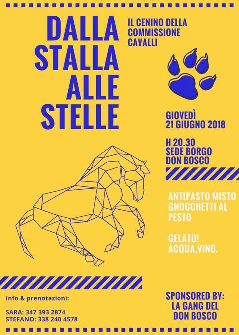 """Palio di Asti, Borgo Don Bosco: 21/06 """"Dalla stalla alle stelle, il cenino della commissionecavalli"""""""