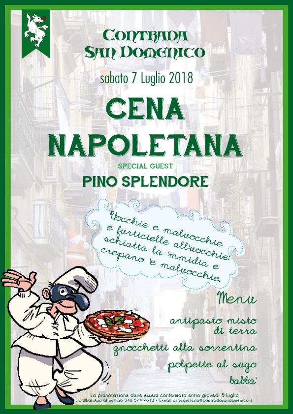 """Legnano, Contrada San Domenico: 07/07 """"Cena di Chiusura Napoletana"""""""