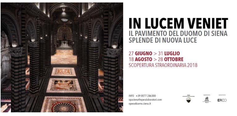Siena: Il mondo guarda Siena per la 'luce' straordinaria del pavimento delDuomo