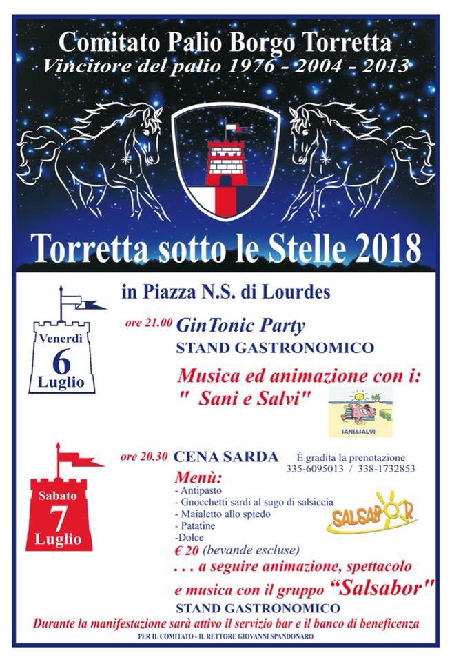 """Palio di Asti, Borgo Torretta. 06-07/07 """"Torretta sotto le Stelle2018"""""""