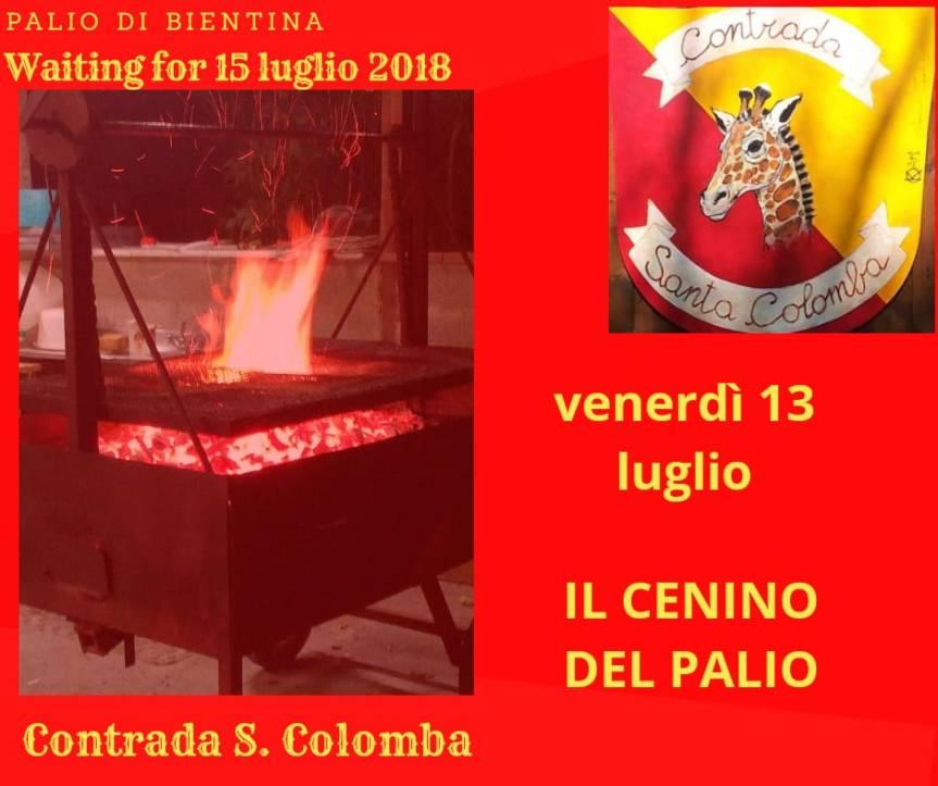"""Palio di Bientina, Contrada Santa Colomba: 13/07 """"Il Cenino delPalio"""""""