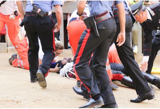 Paio di Siena: Le condizioni del Carabiniere caduto dacavallo