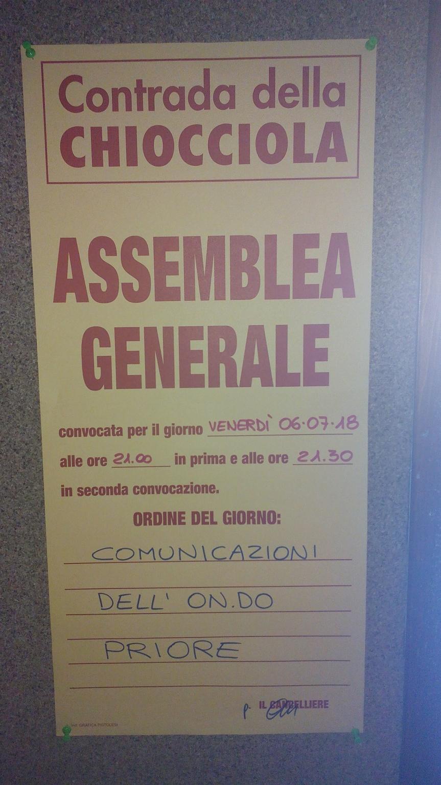 Siena, Contrada della Chiocciola: 06/07 AssembleaGenerale