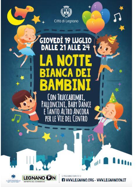 Legnano: 19/07 Notte Bianca deiBambini