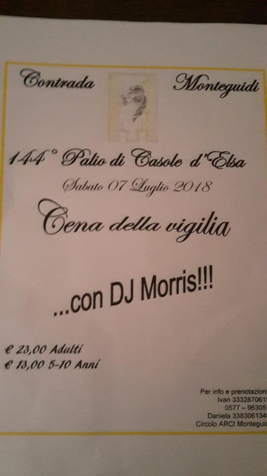 Palio di Casole d'Elsa, Contrada Monteguidi: 07/07 Cena dellaVigilia