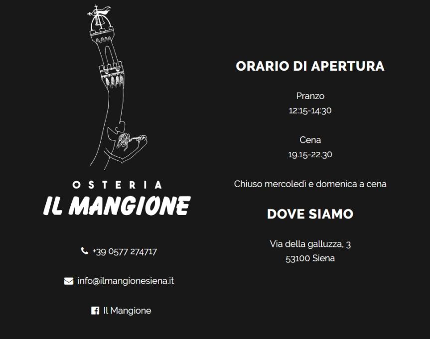 Siena, Osteria Il Mangione: 08/11 A tuttoFritto