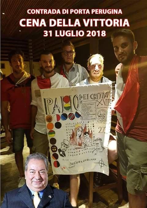Castiglion Fiorentino, Palio dei Cretini: 31/07 Cena della Vittoria PortaPerugina