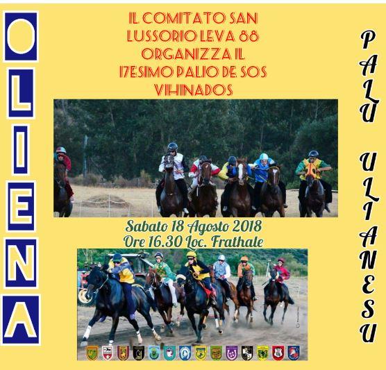 Oliena ( NU ): 18/08 Palio di Oliena e Video presentazionePalio