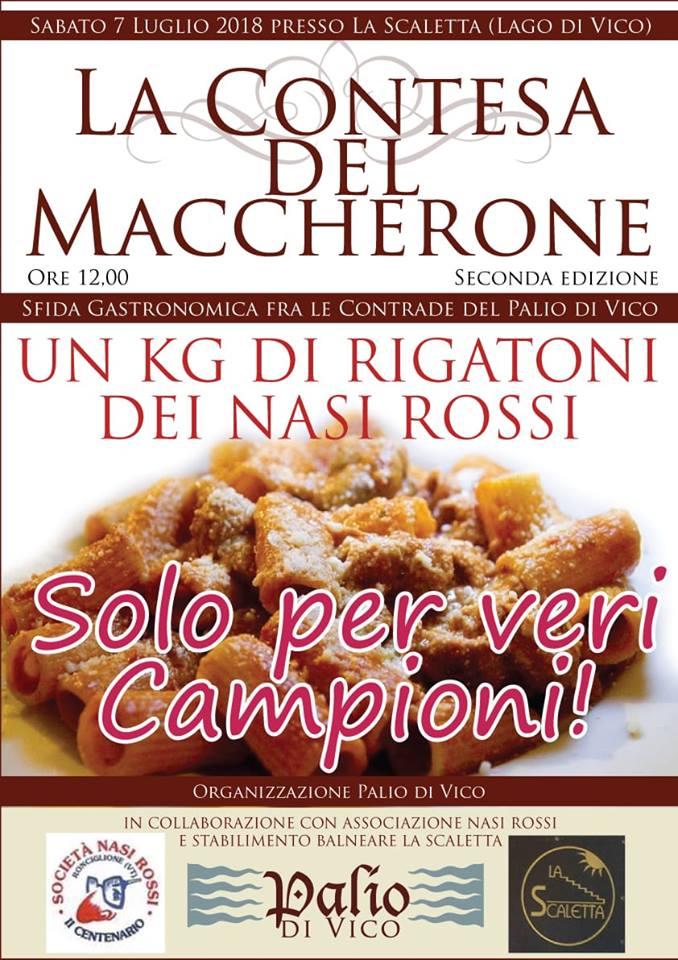 """Palio di Vico: Stasera 07/07 """"La Contesa del Maccherone"""""""