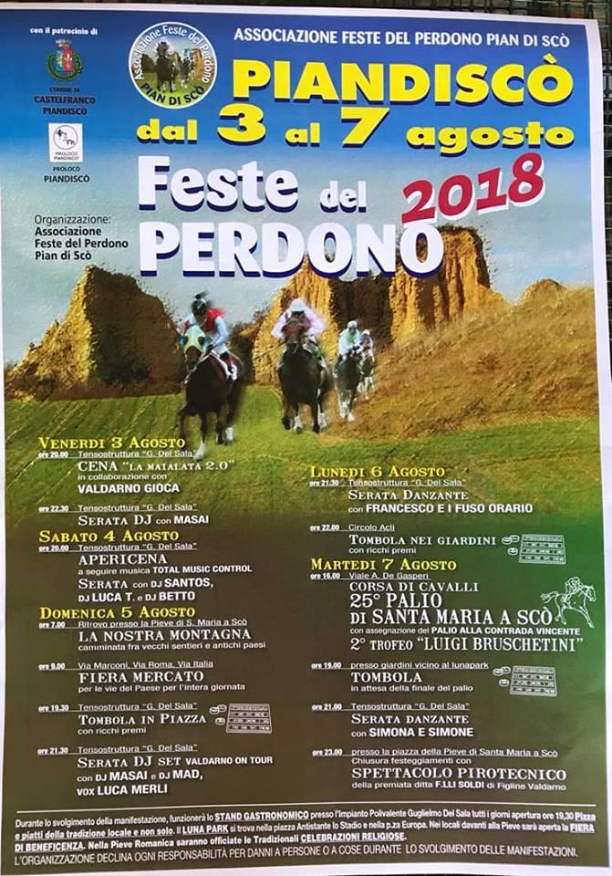 Pian di Scò ( AR ): 03-07/08 Feste del Perdono2018