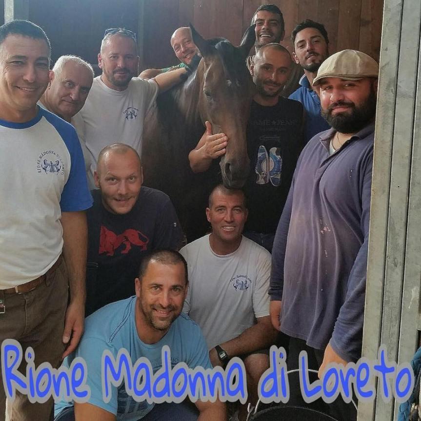 Palio di Ronciglione:  Il lascino del Rione Madonna diLoreto