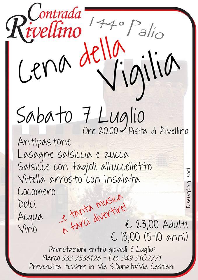 """Palio di Casole d'Elsa, Contrada Rivellino: 07/07 """"Cena dellaVigilia"""""""