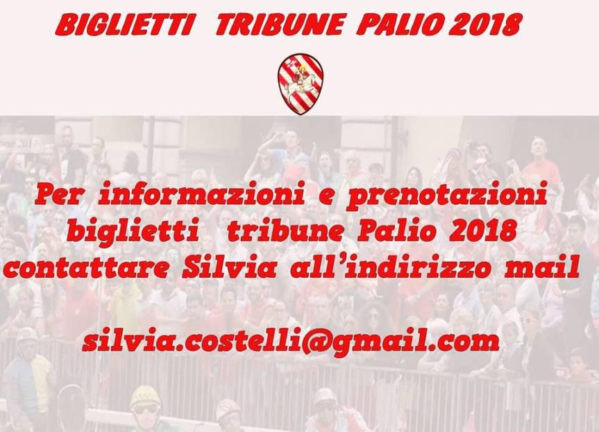 Palio di Asti, Rione San Secondo: Comunicazioni su Prenotazione Posti TribunaPalio