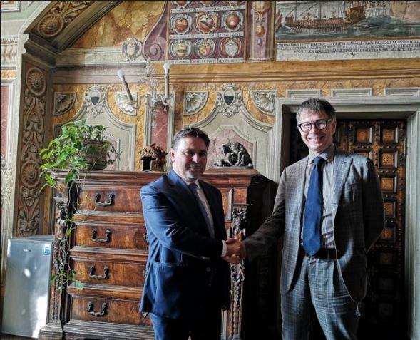 Siena: Incontro in Comune fra il Sindaco Luigi De Mossi e il Questore CostantinoCapuano