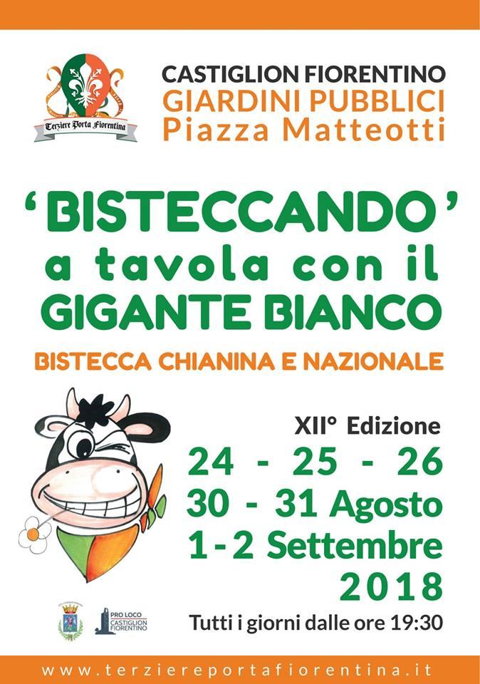 """Castighlion Fiorentino, Rione Porta Fiorentina: 24-25-26-30-31/08 e 01/09 """"Bisteccando XII^Edizione"""""""