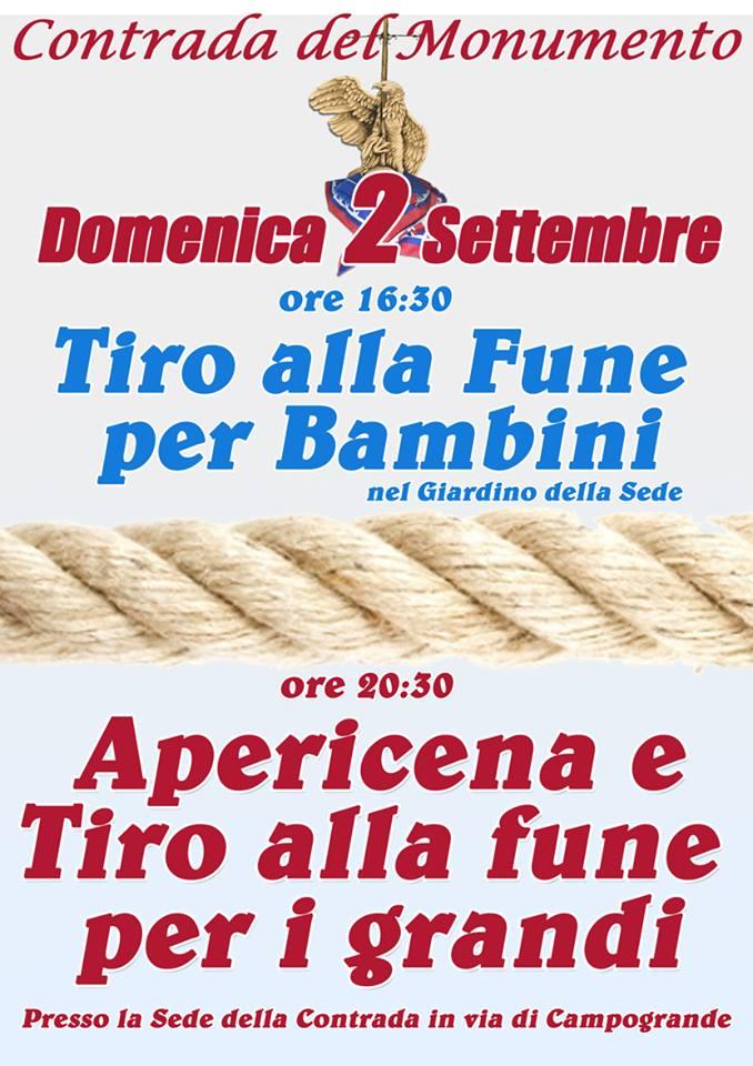 Palio di Castel del Piano, Contrada Monumento: 02/09 Tiro alla Fune per bambini e grandi eApericena