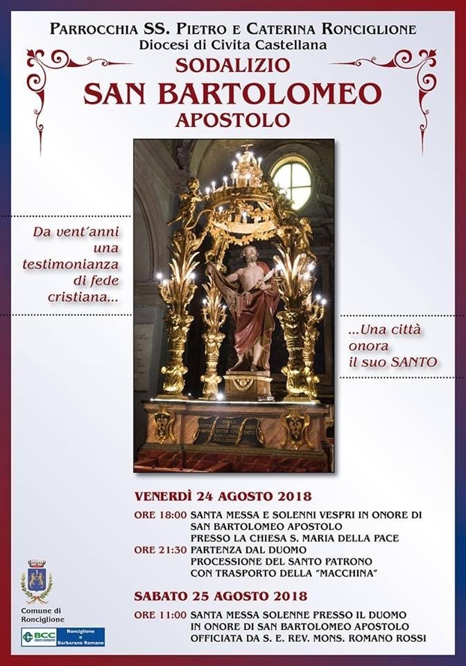 Palio di Ronciglione:  24-25/08 Sodalizio San BartolomeoAspostolo
