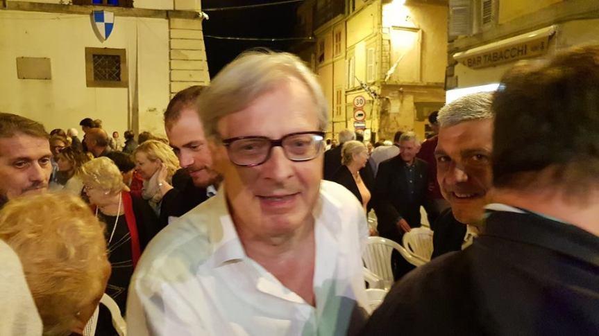 Palio di Ronciglione: Anche Vittorio Sgarbi presente ieri 22/08 al Concerto di SanBartolomeo