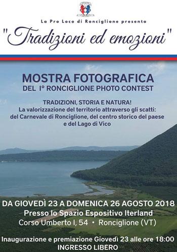 """Palio di Ronciglione: Al via il concorso fotografico """"Tradizioni edEmozioni"""""""
