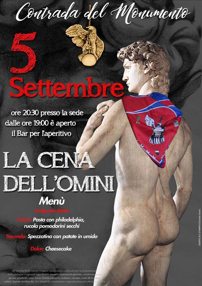Palio di Castel del Piano, Contrada Monumento: 05/09 Cena dell'Omìni