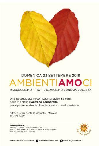 """Legnano, Contrada Legnarello: 23/09 """"Ambientiamoci"""""""
