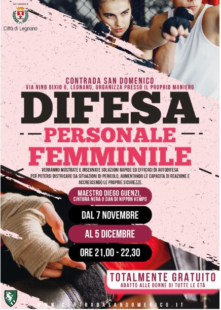 Legnano, Contrada San Domenico: 07/11-05/12 Corso di difesa personalefemminile