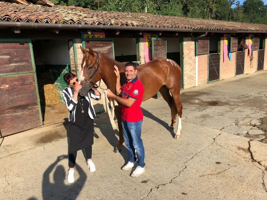 """Palio di Asti, Borgo Santa maria Nuova: Luigi Bruschelli detto """"Trecciolino"""" e il suo cavallo Voulture stannobene"""