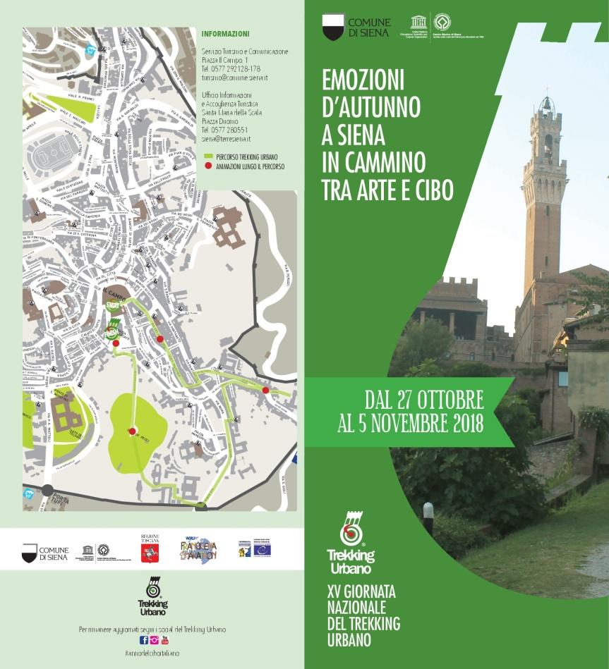 Siena: Emozioni d'Autunno a Siena in cammino tra arte e cibo – Dal 27 ottobre al 5 novembre23/10/2018
