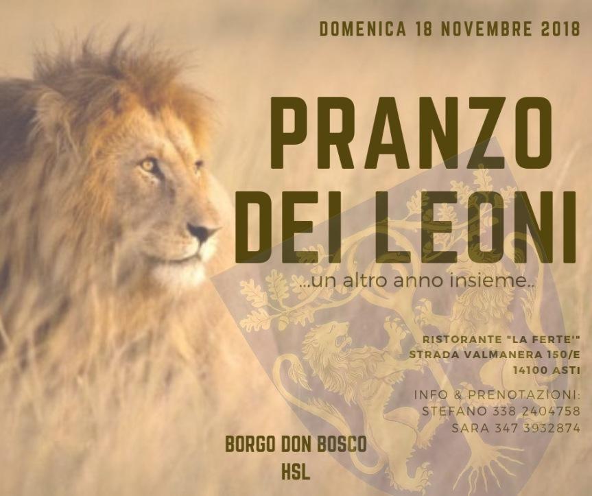 Palio di Asti, Comitato Palio Borgo Don Bosco: 18/11 Cena deiLeoni