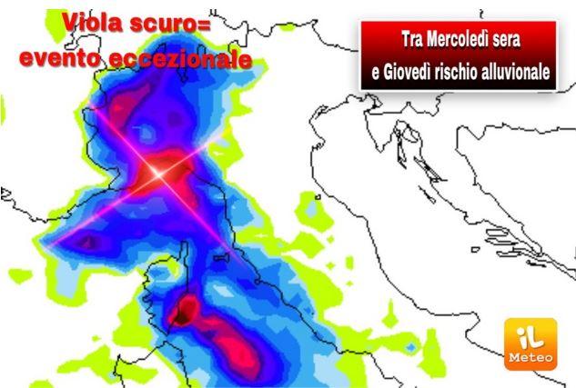 Italia, Meteo: 11/10 Maltempo eccezionale, rischio alluvionale, ecco le zone piùcolpite