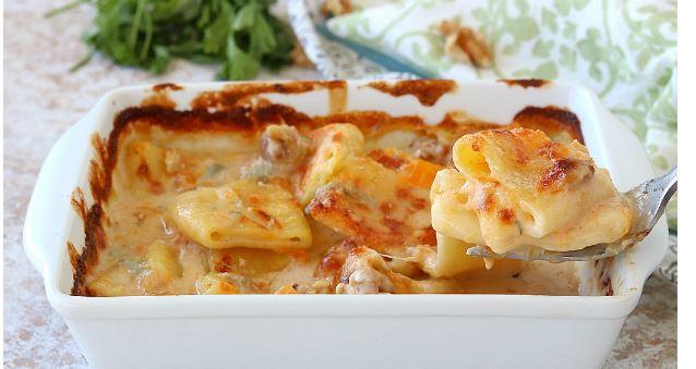 Gastronomia: Paccheri con Zucca Gorgonzola eNoci