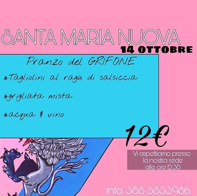 Palio di Asti, Borgo Santa Maria Nuova: 14/10 Pranzo delGrifone