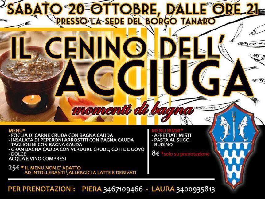 Palio di Asti, Borgo Tanaro-Trincere-Torrazzo: 20/10 Cenino dell'Acciuga