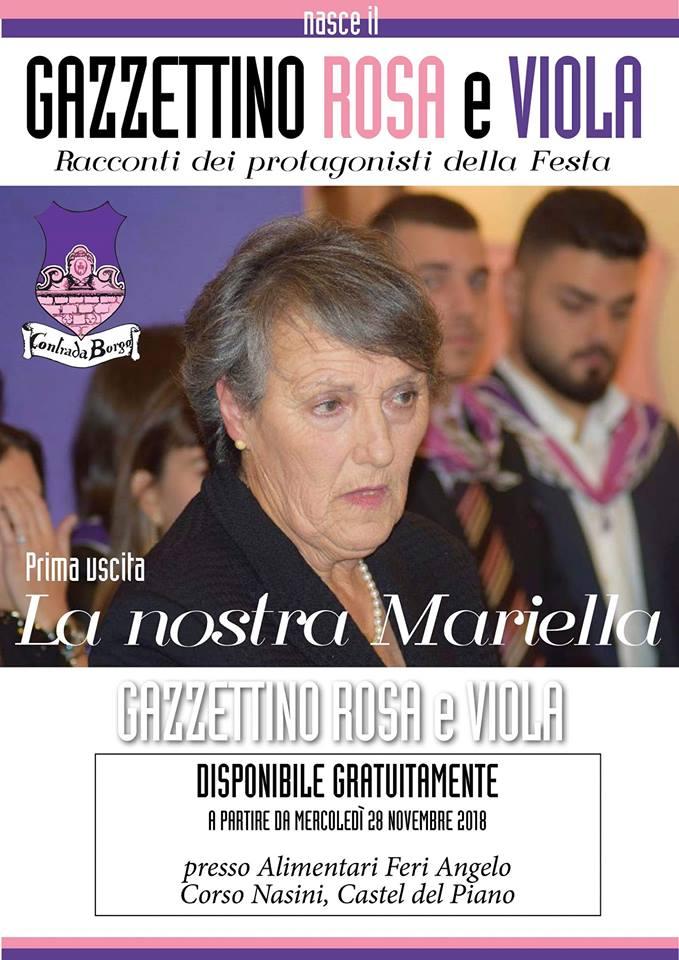 """Palio di Castel del Piano, Contrada Borgo: Nasce il """"Gazzettino Rosa eViola"""""""