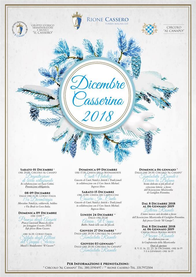 Palio di Castiglion Fiorentino, Rione Cassero: Dicembre Casserino2018