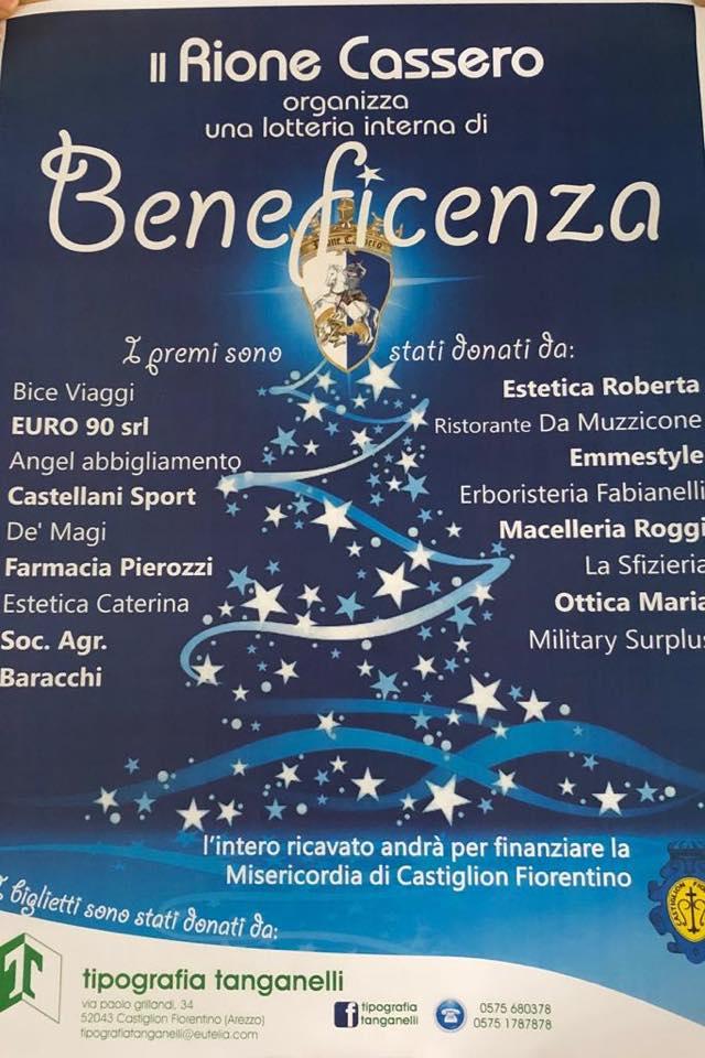 Palio di Castiglion Fiorentino, Rione Cassero: Lotteria Interna diBeneficenza