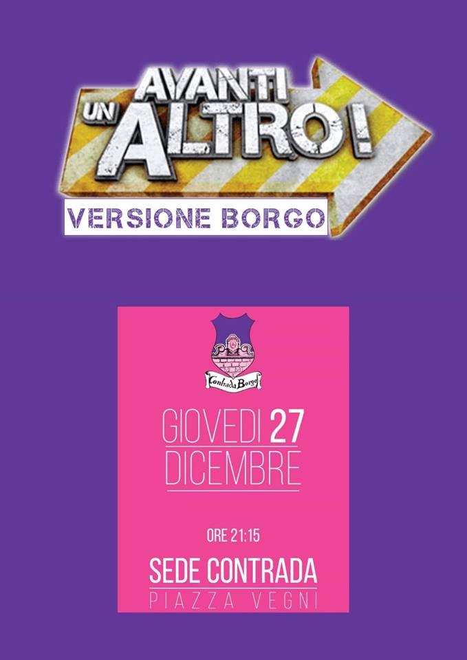 """Palio di Castel del Piano, Contrada Borgo: 27/12 """"Avanti un Altro VersioneBorgo"""""""