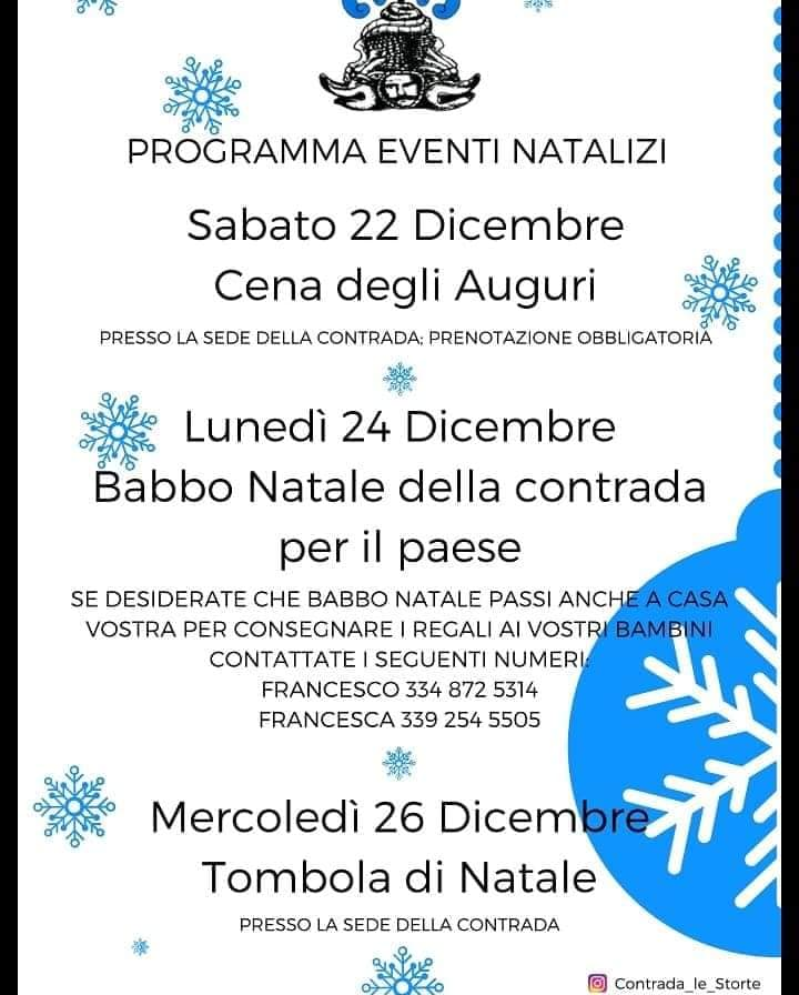 Palio di Castel del Piano: Programma EventiNatalizi