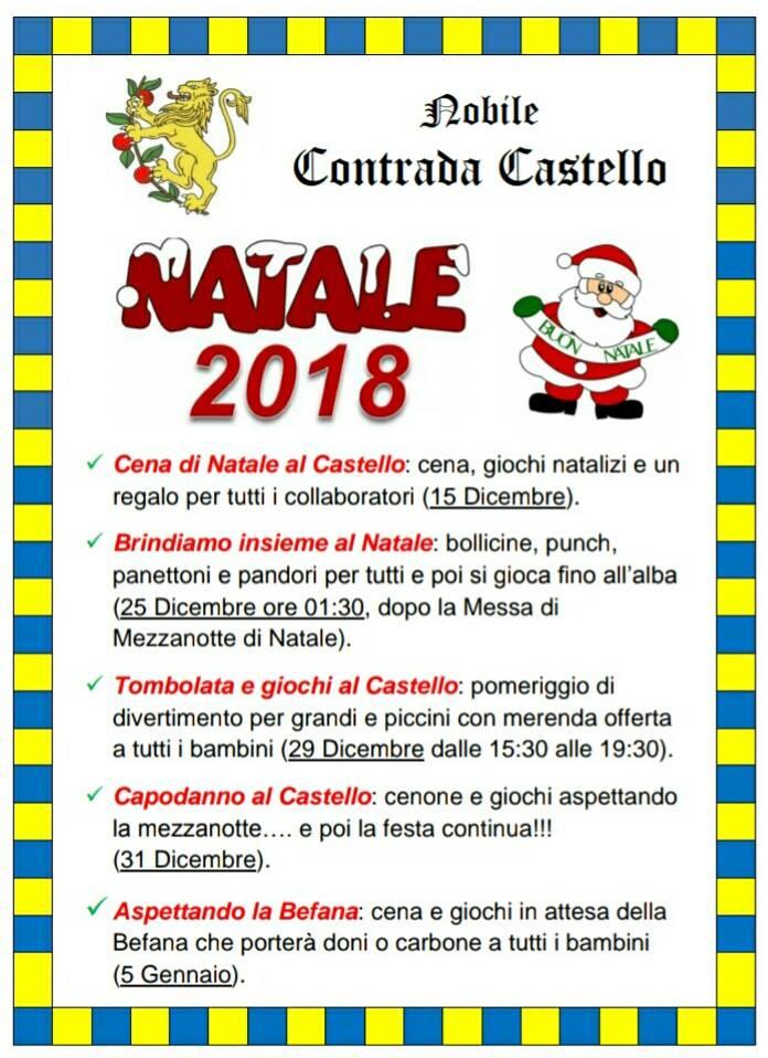 Palio di Fermo, Contrada Castello: Gli appuntamenti di natale2018