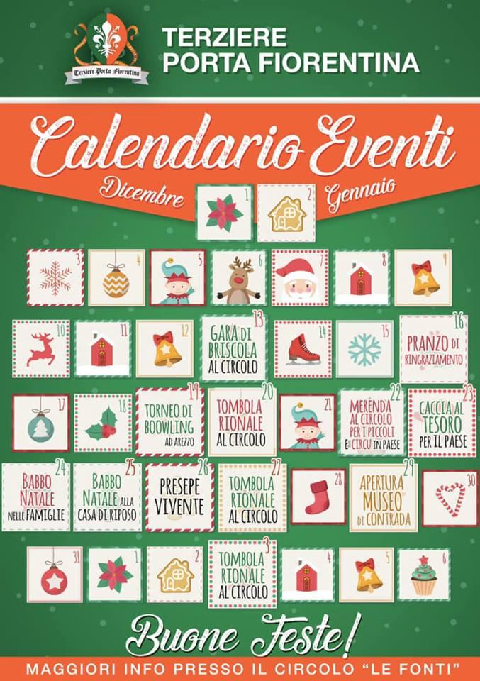Palio di Castiglion Fiorentino, Terziere Porta Fiorentina: Calendario Eventi di Natale2018