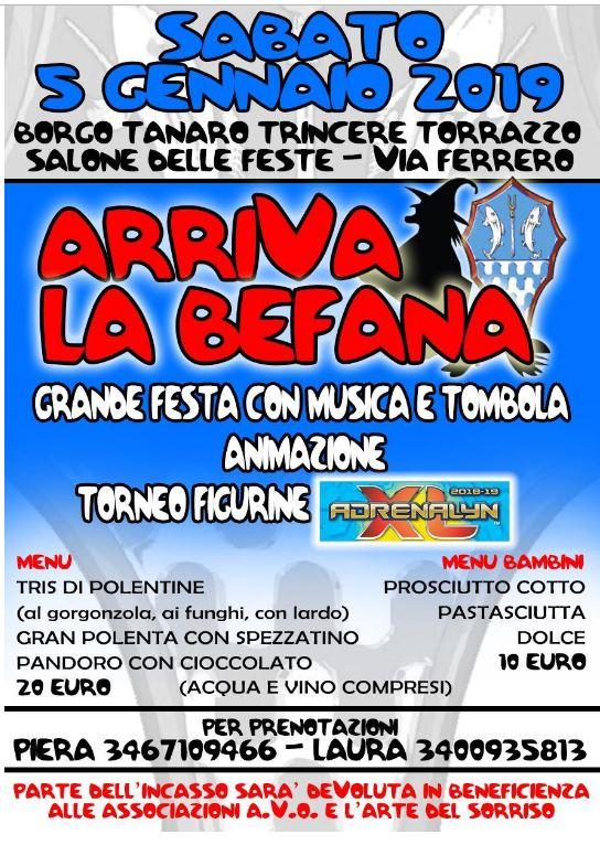 Palio di Asti, Borgo Tanaro-Trincere-Torrazzo: 05/01/2019 Arriva laBefana