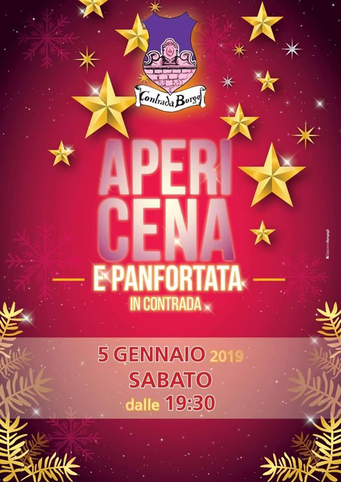 Palio di Castel del Piano, Contrada Borgo: 05/01 ore 19.30 Apericena &Panfortata