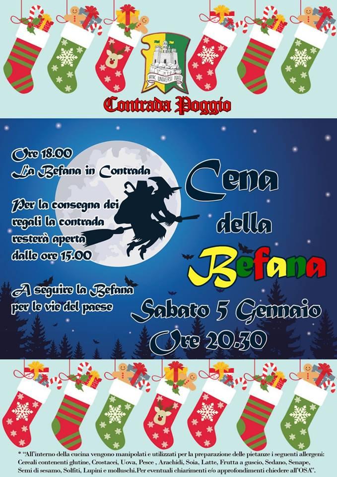Palio di Castel del Piano, Contrada Poggio: 05/01 ore 20.30 Cena dellaBefana
