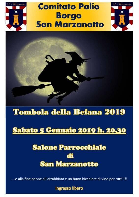 Palio di Asti, Comitato Palio Borgo San Marzanotto: 05/01 ore 20.30 Tombola della Befana2019