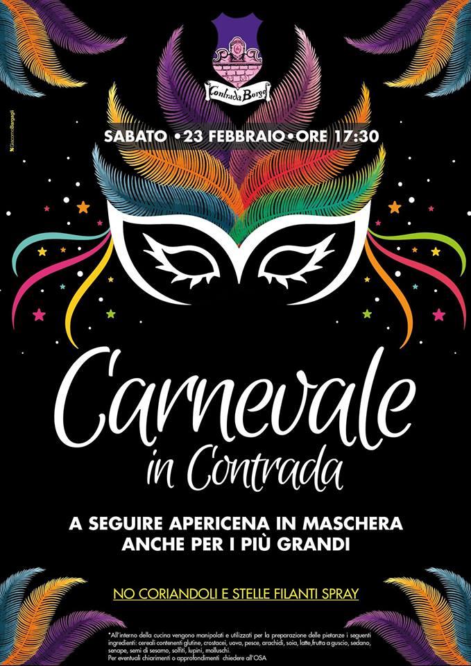 Palio di Castel del Piano, Contrada Borgo: 23/02 Carnevale inContrada
