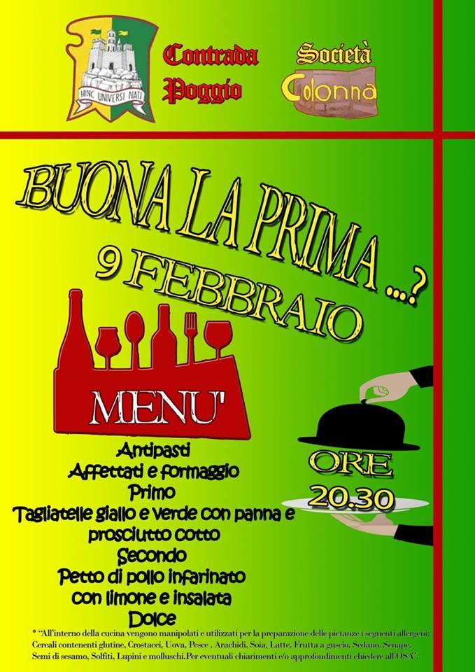 Palio di Castel del Piano, Contrada Poggio: 09/02 Buona laPrima!?