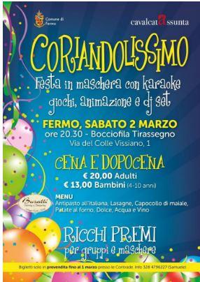 """Cavalcata dell'Assunta: 02/03 """"Coriandolissimo 2019"""""""